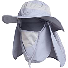 Ddyoutdoor™ 07-281 Fashion Summer Outdoor Sun Protection Fishing Cap Neck Face Flap Hat Wide Brim