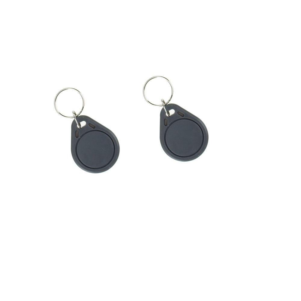 OBO HANDS RFID ISO 1443A MF Classic 1K S50 Card Only Read 13.56MHz Proximity Keyfobs NFC Tag Keychain Token Black 10pcs