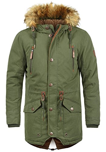 Green Solid Parka XL Ivy Colour Vidage Men's 3797 Size xzzwn4ZOrq