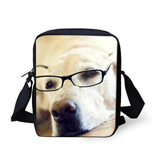 Chaqlin Bandoulière Bulldog White Sac Dog marron r5qwrTU
