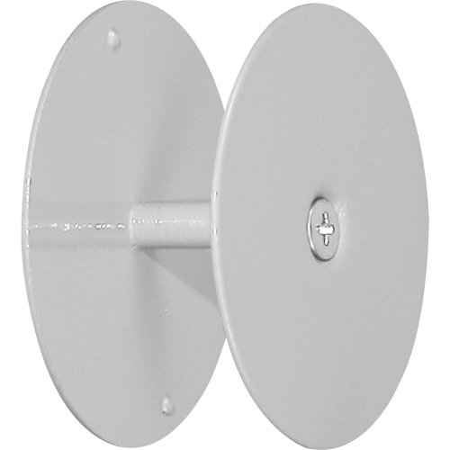 Prime-Line U 9515 Door Hole Cover Plate - Maintain Entry Door Security by Covering Unused Hardware Holes, 2-5/8