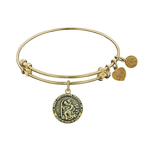 JewelryWeb Angelica St. Christopher Bangle Bracelet -  RCB316344