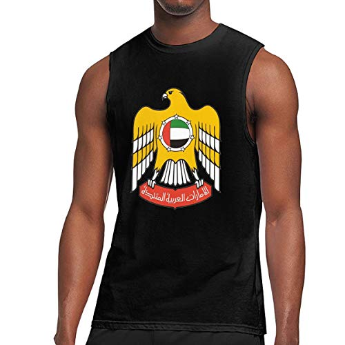 Men's Print Coat of Arms of United Arab Emirates Sleeveless T Shirt Workout Tank Tops Fashion Gym Training Bodybuilding Tee -
