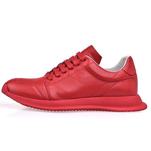 40 Basses Des Hommes Souliers En De Forme De Chaussures Plate De Chaussures De Des Personnalité Red Cuir Tendance Occasionnels La a4aqHY
