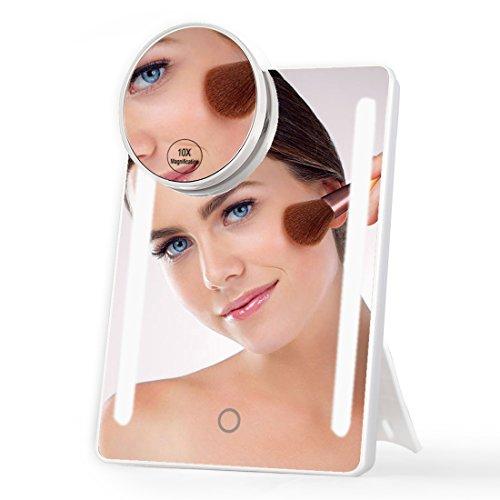 Pocket Makeup Mirror With LED Light (White) - 8