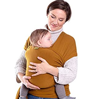 Boba Wrap Baby Carrier, Tiger's Eye - Original Stretchy Infant Sling, Perfect for Newborn Babies and Children up to 35 lbs