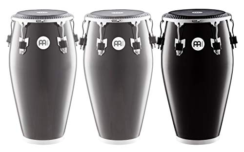 Meinl Percussion Conga with Fiberglass Shell, Fibercraft Series - NOT MADE IN CHINA - Black Finish, 12 1/2