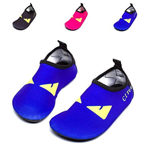 Giotto Barefoot Quick-Dry Women Men Kids Water Sports Shoes Skin Aqua Socks for Swim Beach Pool Surf Yoga, G007-Blue-36-37