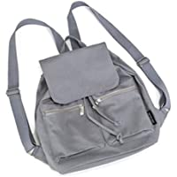 JAUROUXIYUJI New Women's Bag Casual College Canvas Shoulder Bag Solid Color Simple Candy Color Student Backpack
