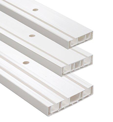 Vorhangschiene / Gardinenschiene 1- / 2- / 3-Lauf weiß (3-läufig 80cm)