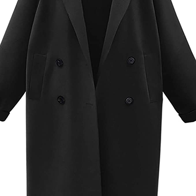 Amazon.com: AOJIAN Women Jacket Long Sleeve Outwear Solid Overcoat Temperament Double Breasted Trench Coat: Clothing