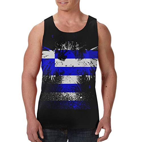 Men's Tank Top Tie Dye Eagle Custom Workout Vest Sleeveless Shirts