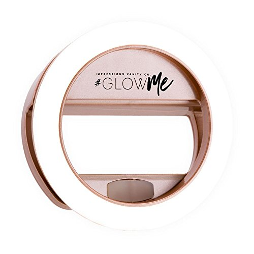 (GlowMe Rechargeable 2.0 USB LED Selfie Ring Light by Impressions Vanity Co. (Rose Gold))