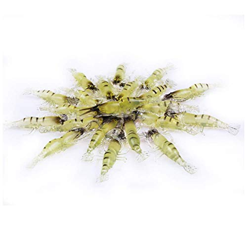 TH-OUTSP 20PCS Soft Shrimp Fishing Lure Baits for Bream Bass Flathead Whiting Snapper (As Shows)