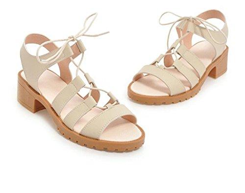 Beige antideslizantes 41 Para Romanas Verano Mujer De 33 Sandalias Cómodas 34 sandalias 4cm correas Xie Cruzadas 37 Beige gSqUw6pwxO