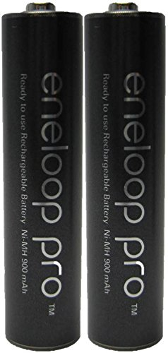 Panasonic Eneloop Pro AAA 950mAh Min 900mAh, High Capacity, Ni-MH Pre-Charged Rechargeable 2 Batteries For Sale