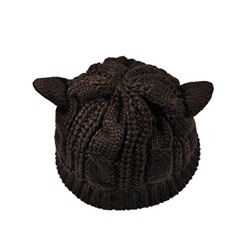 Tuscom Winter Beanie Crochet Braided