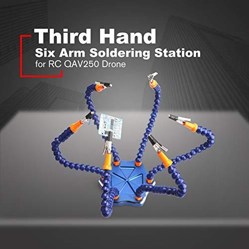 Strange Third Hand Six Arm Soldering Station with USB Fan for RC QAV250 Drone