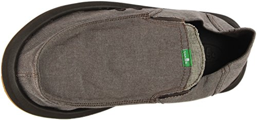 Mens Da Uomo Sanuk Slip On Brown Chambray
