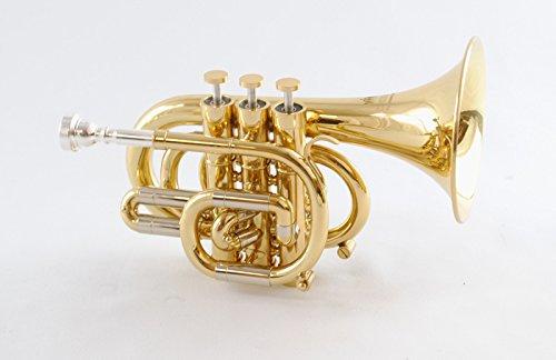 Schiller CenterTone Pocket C Trumpet - Gold Lacquer by Schiller