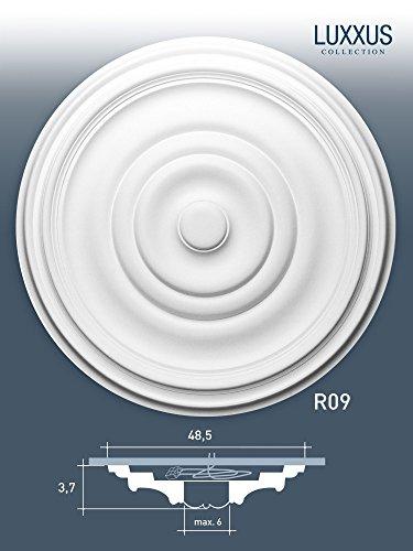 48 cm = 18 inch diameter ORAC R09 Ceiling Rose Rosette Medallion Centre quality polyurethane classic style decor white