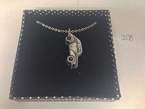 RENAULT 4CV 3D Pendentif sur collier plaqué argent platine fait main 45,7cm ref208