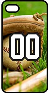 Baseball Sports Fan Player Number 00 Smoke Rubber Decorative iPhone 4/4s Case