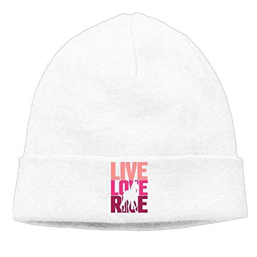 Men and Women Live, Love, Ride Horse Beanie Cap Winter Warm Knitting - Lined Beanie Ride