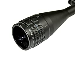 SNIPER® Rifle Scope 4-16x50mm with Tactical Lock Zero and Adjustment W/e and W Front Aol. Red/green/blue Illumination Mil-dot Reticle. Comes with Extended Sunshade and Heavy Duty Ring Mount and Lens Cover