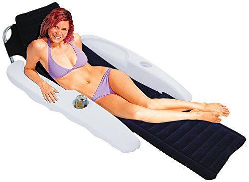 Blue Wave Aqua Chaise Padded Pool Lounger by Blue Wave