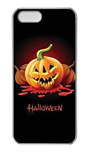 Halloween Pumpkin Carving and Text PC Transparent iphone 5 customized case for Apple iPhone 5/5S