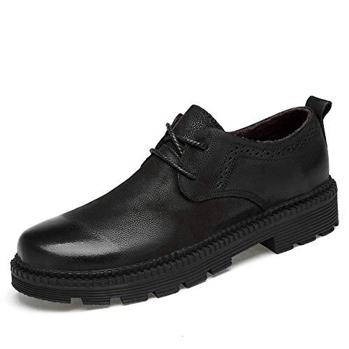 Business 2018 Color casual calde 40 Pelle tonda Cotone Abiti Warm spesso Fondo uomo Dimensione Scarpe EU Uomo normale lavoro in pelle Nero Black Scarpe Jiuyue shoes da da Testa Oxford formali S5cwERPq