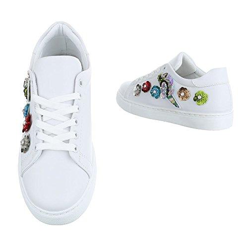 Damen Schuhe Freizeitschuhe Sneakers Turnschuhe Sportschuhe Schwarz Weiß