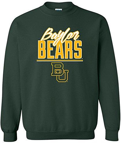 Baseball Jersey Bear (NCAA Baylor Bears Adult Unisex NCAA Script Crewneck Sweatshirt,XX-Large,ForestGreen)