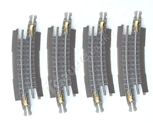 014 Gauge - T Gauge 1:450 Scale Grey 132.5mm Radius Curved Track 15 Degree R-014