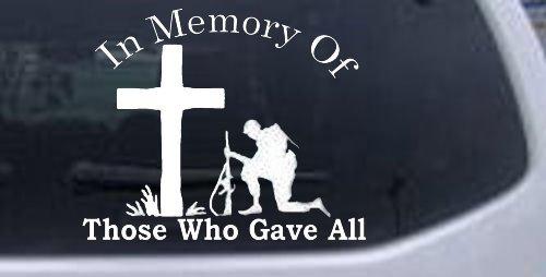 Memory Military Window Laptop Sticker