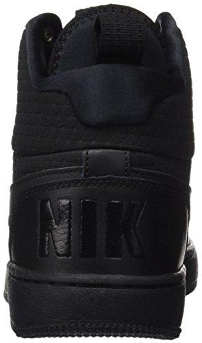 Nike Court Borough Mid Winter Heren Waterdichte Basketbal Schoenen Zwart