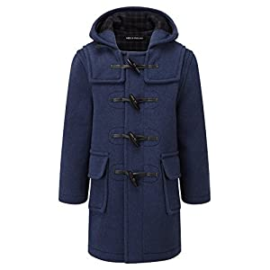 Kids Classic Duffle Coat (Toggle Coat) in Indigo ( 10-13Y )