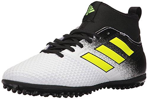 Adidas Performance Mens Ace Tango 17 3 Tf Soccer Shoes  White Solar Yellow Black  10 5 Medium Us