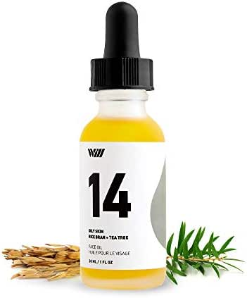 14 Natural Face Oil Serum, Organic Facial Oil Moisturizer, Oily Skin Face Oil with Vitamin E, Facial Massage Oil (Rice Bran and Tea Tree) - Way of Wil