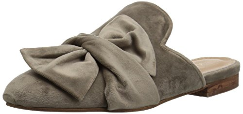 Taupe KAANAS Bow Women's with Iza Mule Flat Velvet Slide YPrTg8wqPx
