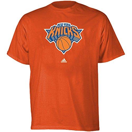 NBA New York Knicks Men's Full Primary Logo Tee - Orange (Large) Adidas New York Knicks Primary