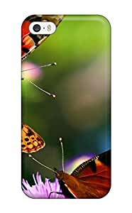 Pretty NMuJGyp719zZwOa Iphone 5/5s Case Cover/ Three Butterflys On A Round Pink Flower Series High Quality Case