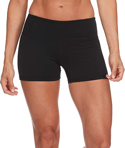 Body Glove Active Women's GET Shorty Performance FIT Activewear Short, Black, ()