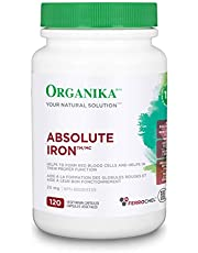 Organika Absolute Iron - Potent and Highly Bioavailable Pure Iron Bisglycinate 120 vcaps