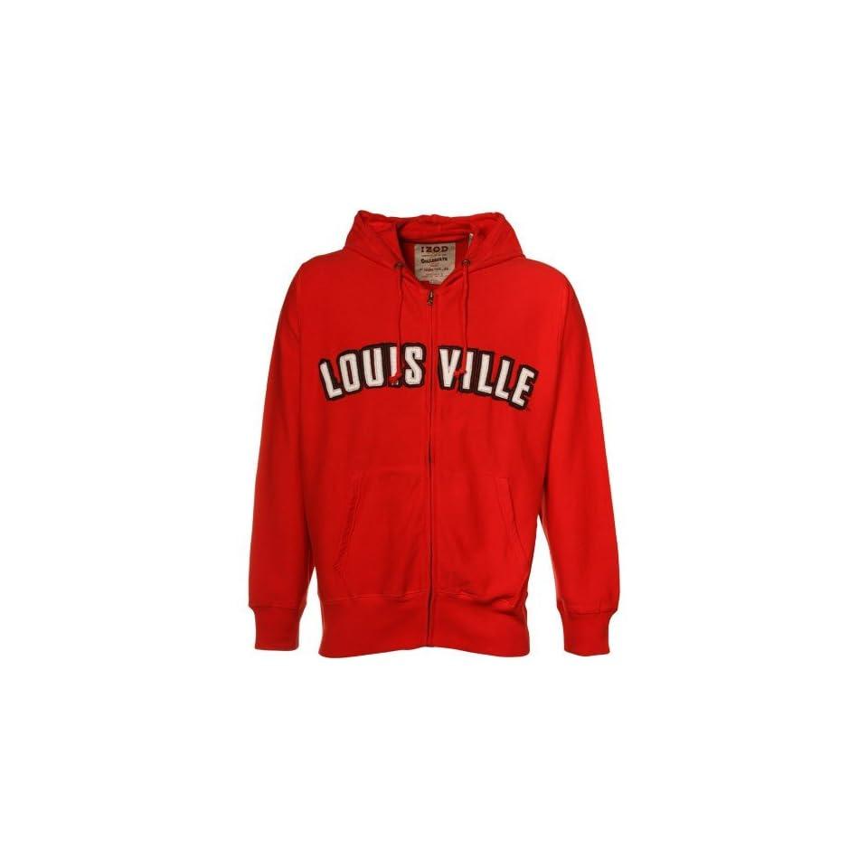 Izod Louisville Cardinals Red Full Zip Hoody Sweatshirt
