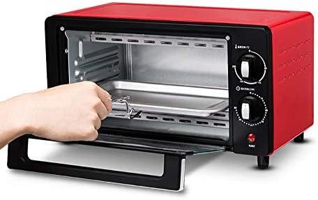 فرن صغير للمطبخ طباخ كهربائي صغير وشوي فرن صغير أسود وشوي فرن متعدد الوظائف فرن كهربائي صغير توقيت 60 دقيقة سعة 10 لتر تحكم في درجة الحرارة في المنطقة أحمر Amazon Ae