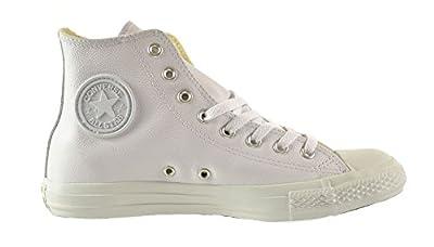 Converse Chuck Taylor A/S Leather High Unisex Shoes White 1t406 (9 D(M) US)