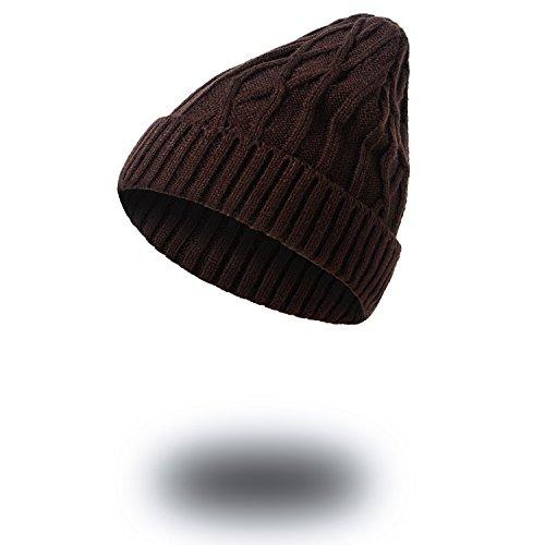 sombreros Halloween Señoras sombreros caqui Invierno Navidad Men beanie tejidos tejidos sombreros sombreros MASTER Brown caliente Tdzqxff