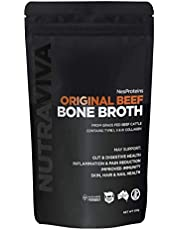Bone Broth Collagen Powder - Sourced from 100% AU Grass Fed, Pasture Raised Beef for Max Nutrition - No Preservatives, Additives, Paleo Friendly, Promotes Healthy Gut - Beef Bone Broth